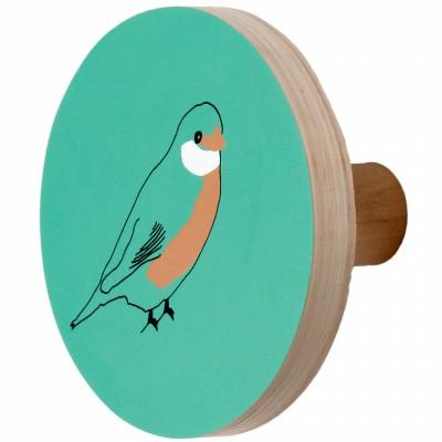 Patère en bois oiseau