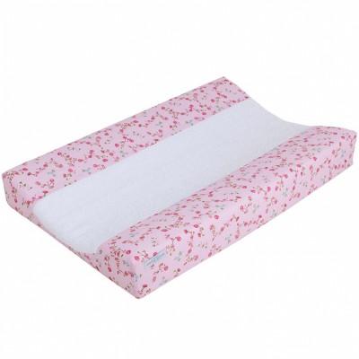 Housse de matelas à langer à langer fleurs pink blossom (44 x 72 cm)
