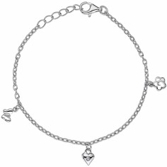 Bracelet Jessie (argent 925� et diamant)  - Lily and Lotty Girls by Balticambre