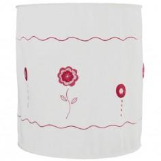 Suspension lampion en tissu Fleurs en crochet roses - Taftan