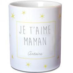 Mug �toiles jaune (personnalisable) - Les Griottes