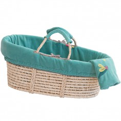 Couffin en osier turquoise Les pachats - Moulin Roty