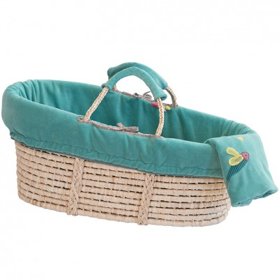 Couffin en osier turquoise les pachats