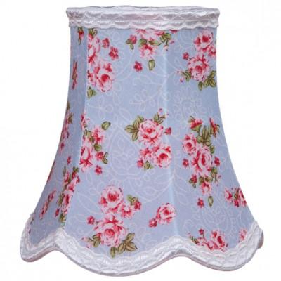 Abat-jour floral rose et bleu pour lampe (15 x 15 cm)
