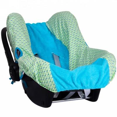 Housse de cosy pour siège-auto pebble philo green