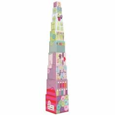 Cubes empilables Les jolis pas beaux - Moulin Roty