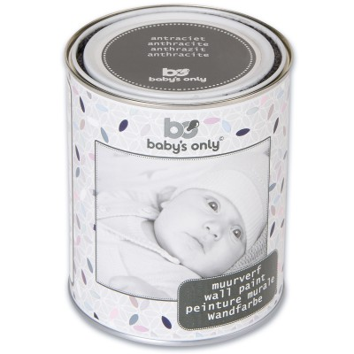 Peinture murale gris anthracite 1 l baby 39 s only for Peinture gris anthracite