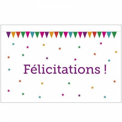 Carte de félicitations naissance fanions