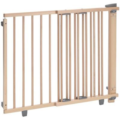 Barrière de sécurité bois naturel pour porte (97 à 139 cm)