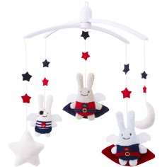 Mobile Musical Ange Lapin h�ros et pirate - Trousselier