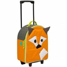 Petite valise � roulettes 4 kids renard orange - L�ssig