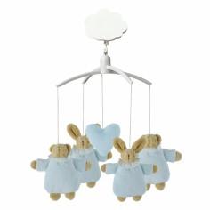 Mobile musical Lapin nid d'ange et ours bleu - Trousselier