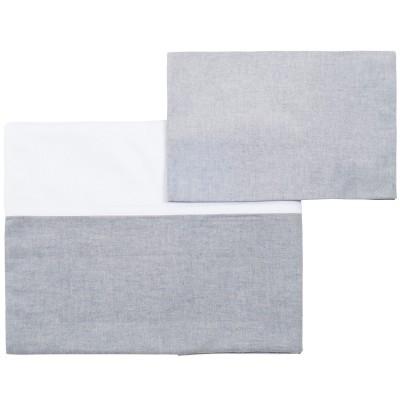 Drap + taie d'oreiller sirène grey (110 x 170 cm)