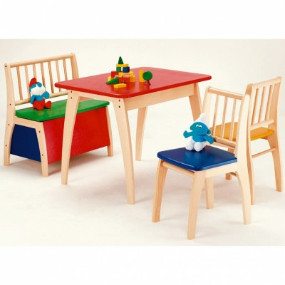 Ensemble table et chaises bambino multicolore 4 pices for Meubles bambino