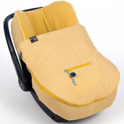 Chancelière 2 en 1 légère namaste jaune pour siège-auto groupe 0