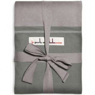 Echarpe de portage l'originale gris clair poche olive