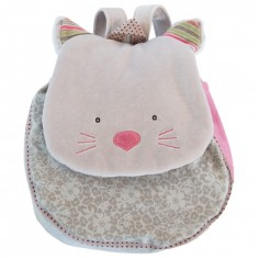 Sac � dos chat gris Les Pachats - Moulin Roty