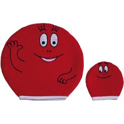 Lot de 2 gants barbapapa adulte et bébé rouge