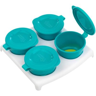 Lot de 4 pots de congélation avec plateau turquoise (60 ml)
