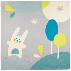 tapis carr patachon 110 x 110 cm sauthon baby dco - Tapis Chambre Bebe Garcon