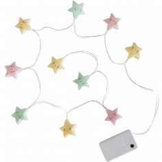 Guirlande lumineuse mini étoiles pastelles