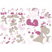 Stickers d�co Victoria et Lucie - Noukie's