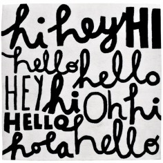 Tapis coton Hi, Hey, Hola Wonderful words by Aless Baylis (150 x 150 cm)  - Lilipinso