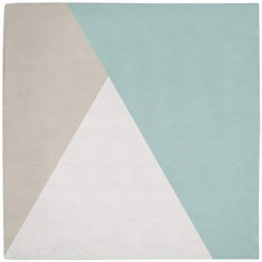 Tapis coton triangles gris et mint by Claudia Soria (150 x150 cm) - Lilipinso