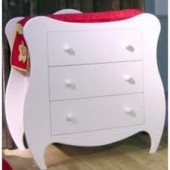 Commode Volute finition laqu� blanc - Mathy by bols