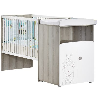 lit bb combin volutif teddy 60 x 120 cm baby price. Black Bedroom Furniture Sets. Home Design Ideas