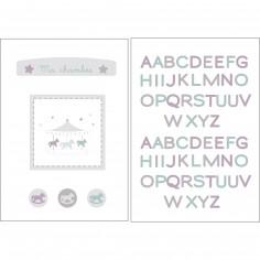 Stickers muraux repositionnables Mon petit man�ge - Candide