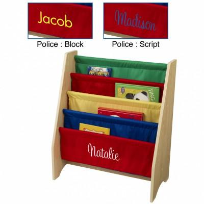 Bibliothèque pour enfants à compartiments multicolore personnalisable