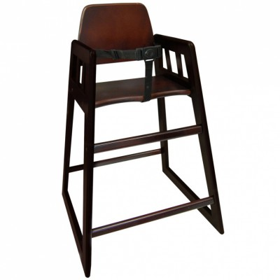 Chaise haute en bois foncé american 2