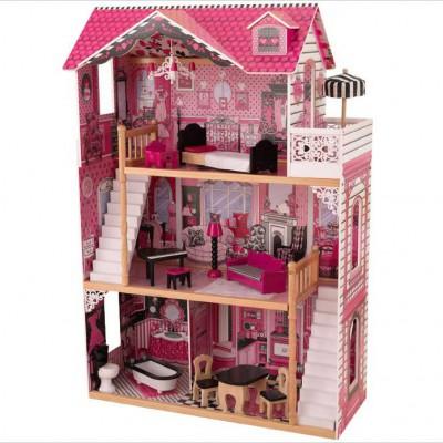 Maison de poupée Amelia avec 2 escaliers