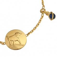 Bracelet m�daille Le Petit Prince Dessine-moi un mouton (or jaune 750� et �mail) - La Monnaie de Paris