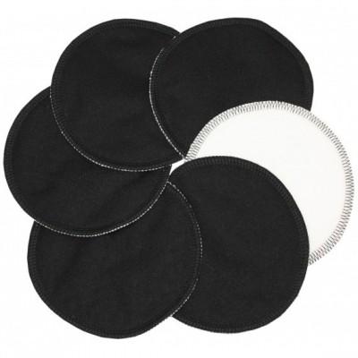 Coussinets d'allaitement lavables effet au sec noir (6 pièces)