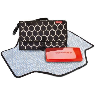 Mini kit à langer onyx noir et écru