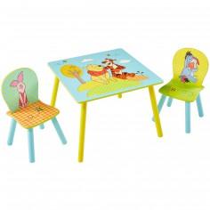 Set table et chaises york baby dco berceau magique - Table et chaise winnie l ourson ...