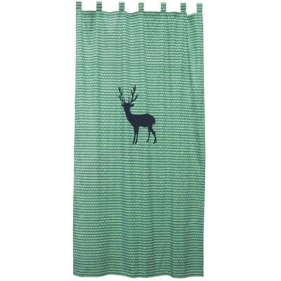 Rideau Cerf vert (145 x 280 cm) - Taftan
