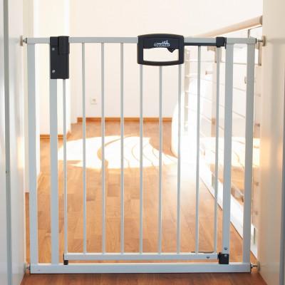 Barrière de sécurité easy lock blanc métal (80,5 à 88,5 cm)