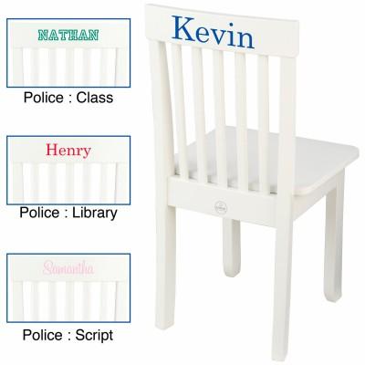 Chaise pour enfant avalon blanche