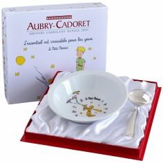 Coffret assiette + panadi�re perles Le Petit Prince (2 pi�ces) - Aubry Cadoret