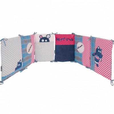 tour de lit hippipos les dglingos pour lits 60 x 120 et. Black Bedroom Furniture Sets. Home Design Ideas