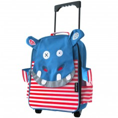 Valise trolley Hippipos l'Hippopotame - Les D�glingos