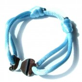 Bracelet cordon nounours 15 mm (or blanc 750�) - Loupidou