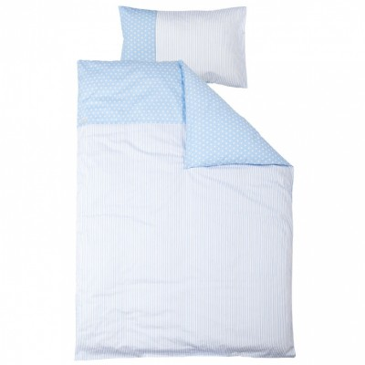 parure de lit housse de couette et taie doreiller bleu. Black Bedroom Furniture Sets. Home Design Ideas