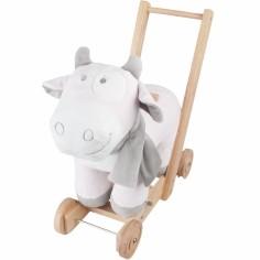 Trotteur pousseur à roulettes Lola rose, blanc