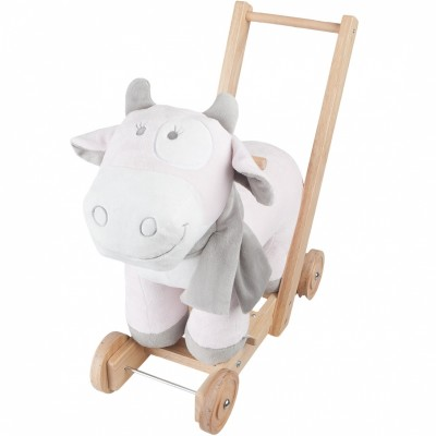 Trotteur pousseur à roulettes Lola rose, blanc  par Noukie's