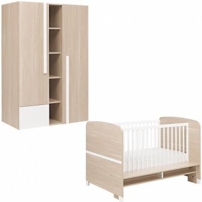 Pack duo alpa lit bébé et armoire