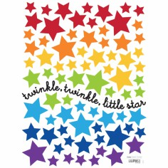 Stickers little star by Sophie Cordier (18 x 24 cm) - Lilipinso